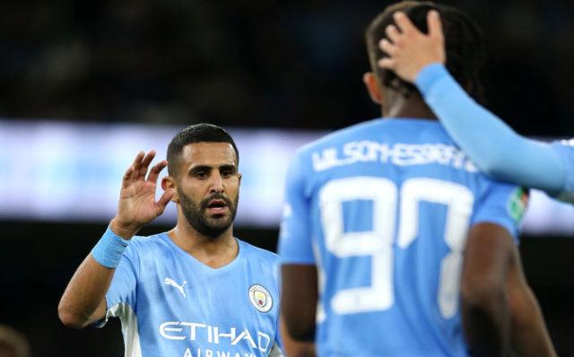Manchester City : Riyad Mahrez signe un doublé et une offrande en League Cup (vidéo)