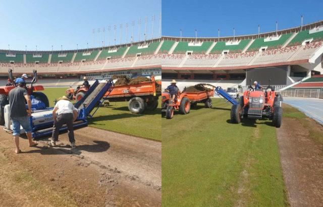 Réfection de la pelouse du stade du 5-Juillet : Les travaux prendront fin avant le début du championnat